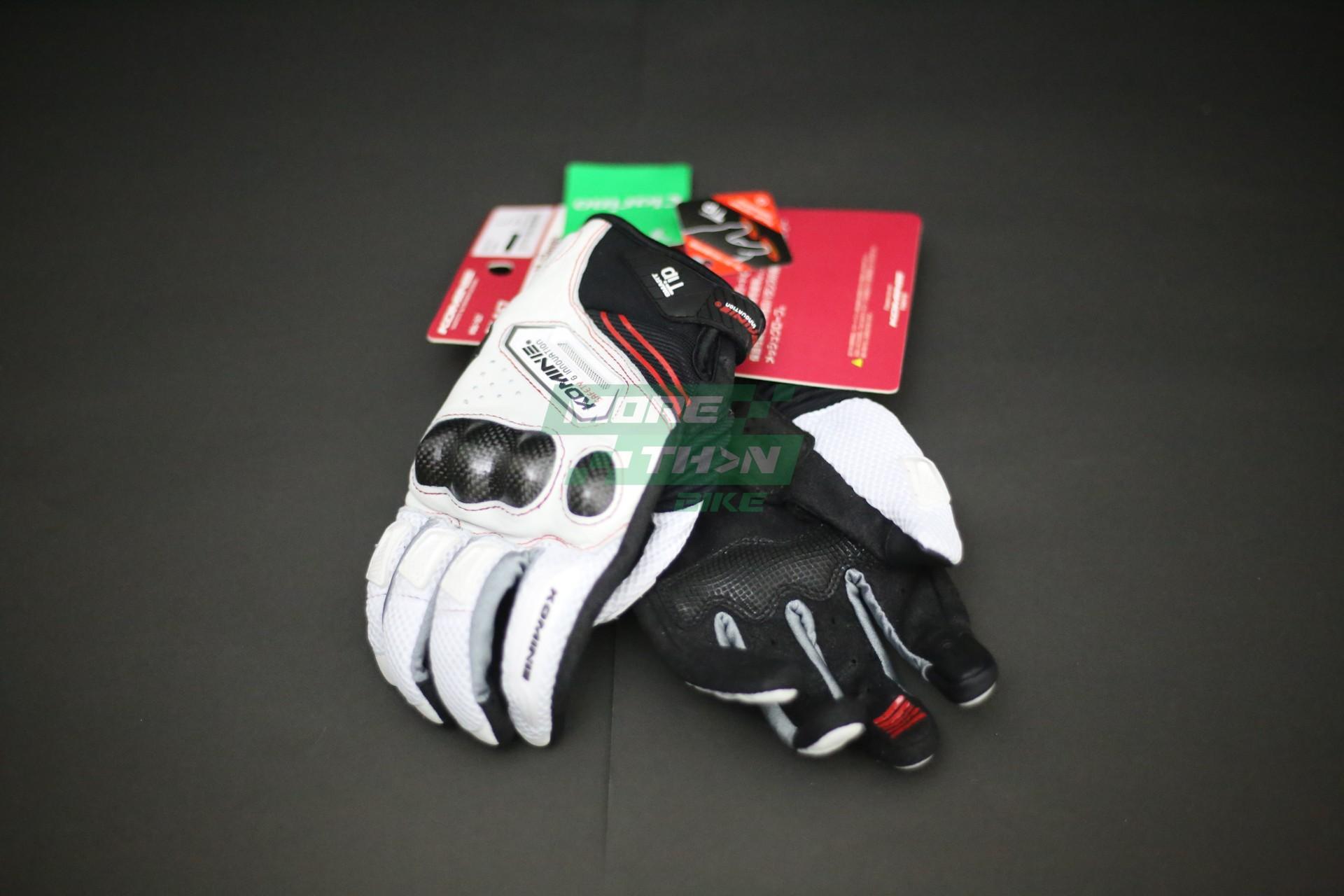 KOMINE GK-167 Carbon Protect M-Gloves White 1