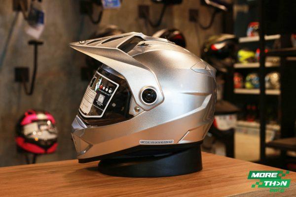 HJC DS-X1 Metal CR Silver Dual Sport