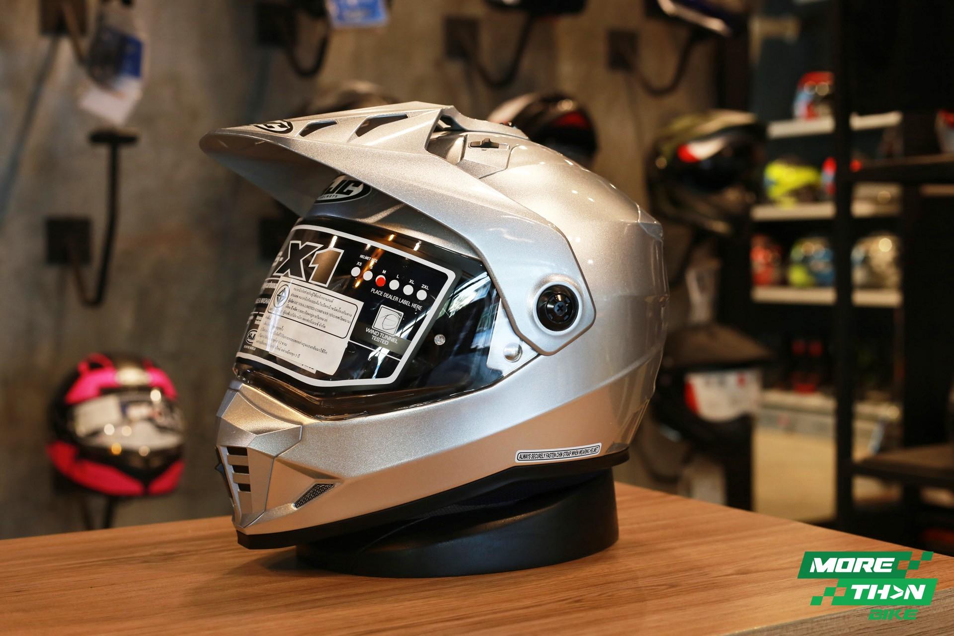 HJC DS-X1 Metal CR Silver Dual Sport 2