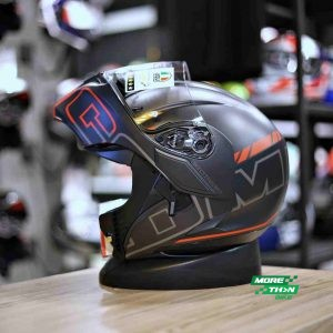 AGV COMPACT SEATLE MATT BLACK SILVER RED