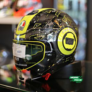 AGV Fluid Ibiscus Gunmetal Yellow