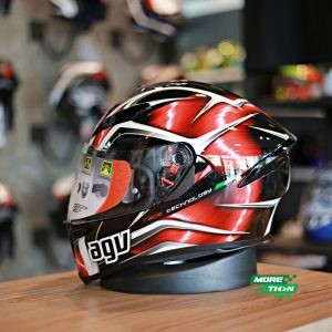 AGV K-5 S Hurricane Black-Red-White